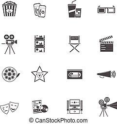 Movie Icons Black Set