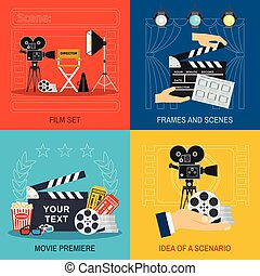 movie making and premiere concept