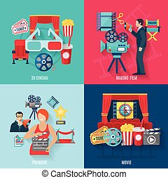 Movie Making Icons Set