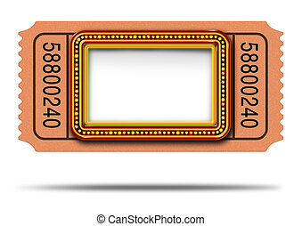 Movie Marqueee Ticket - Movie marqueee ticket with blank...