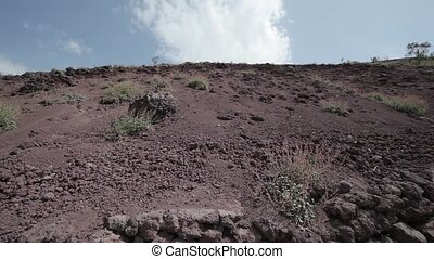Movie Mount Vesuvius in Italy. The crater of Vesuvius