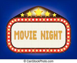 Movie Night Theatre Marquee