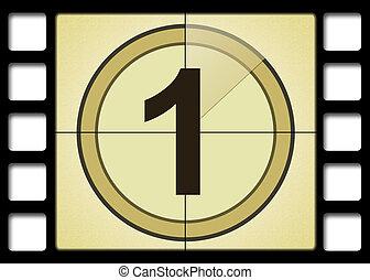 Movie Number 1 - Film countdown. Number 1