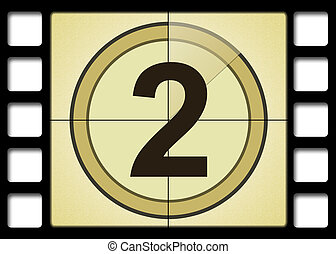 Film countdown. Number 2