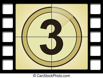 Movie Number 3 - Film countdown. Number 3