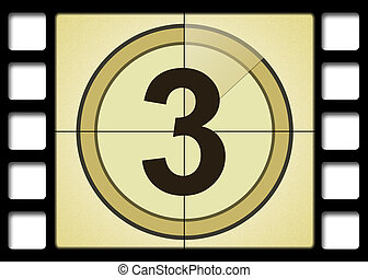 Film countdown. Number 3