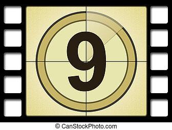 Film countdown. Number 9