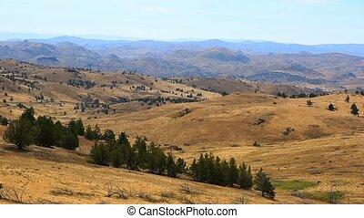 Movie of high desert terrain and vegetation in Antelope...