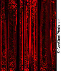 movie or theater curtain - red movie or theater curtain with...
