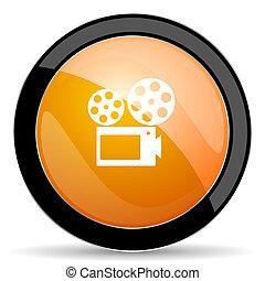 movie orange icon cinema sign