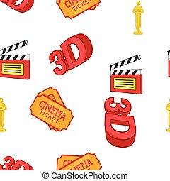 Movie pattern, cartoon style