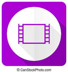 movie pink flat icon