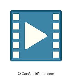 Movie play button icon