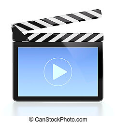 Movie player icon - 3D illustration of movie player icon in...