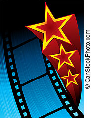 Movie poster - Poster with film and stars on blue background