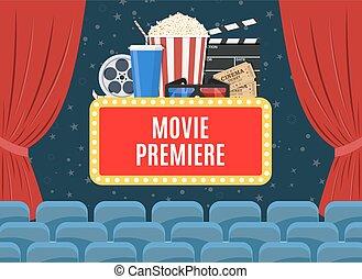 Movie premiere poster