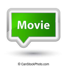 Movie prime green banner button