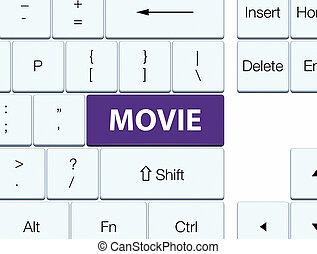 Movie purple keyboard button
