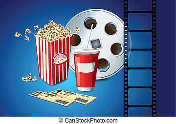 Movie Reel and Pop Corn