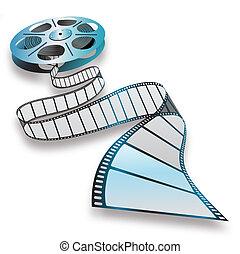 movie reel - Close-up of a film reel