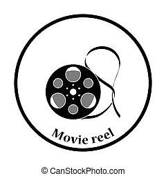 Movie reel icon