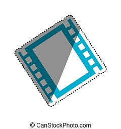 Movie reel isolated