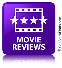 Movie reviews purple square button