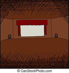 Movie Screen in Room