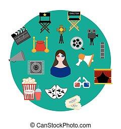 Movie set illustration