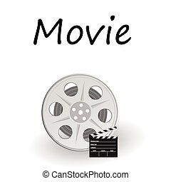 movie sign vector