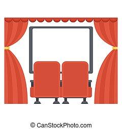 movie skærm, teater