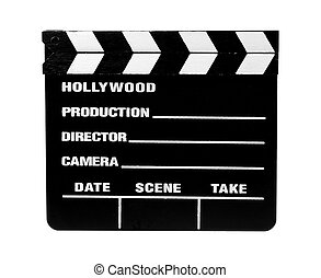 Movie Slate 2 - Clipping Path - Isolated Movie Slate -...