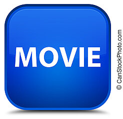 Movie special blue square button