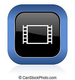 movie square glossy icon
