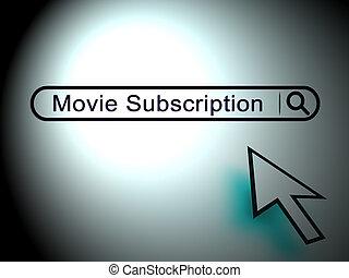 Movie Subscription Tv Ondemand Internet Watching 2d Illustration
