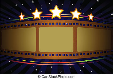 Movie theater background - A vector illustration of a movie ...