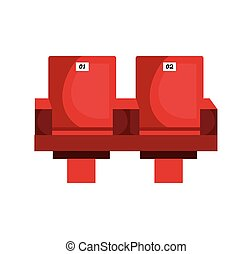 Movie theater chairs icon