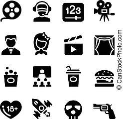 Movie ,theater, cinema icon