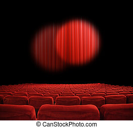 Movie theater  - classic cinema with red seats