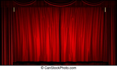 A 1080p video of a theater curtain uncovering the movie screen (16:9)
