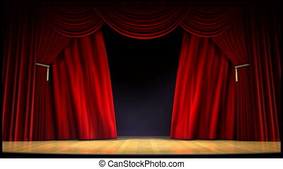 Movie theater curtain