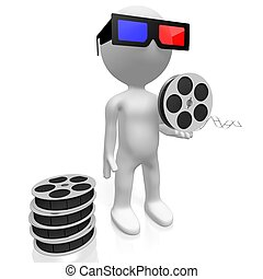 Movie theater, film reel