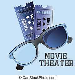 movie theater over blue background vector illustration