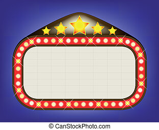 Movie Theatre Marquee - A blank movie theatre or theatre...