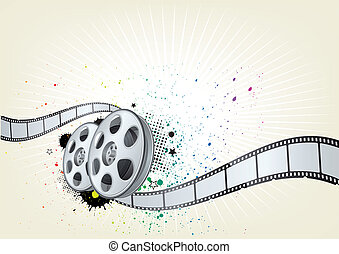 movie theme background - vector background for movie theme