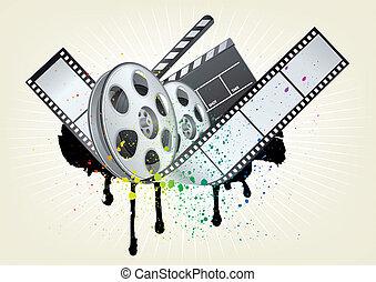 movie theme element - design element for movie theme