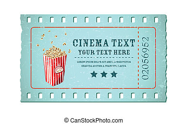 Movie Ticket - illustration of movie ticket in shape of film...