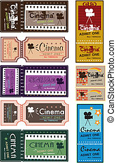 Movie ticket set
