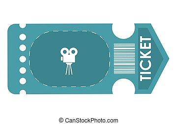 movie ticket , vector illustration