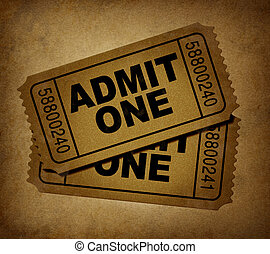movie tickets vintage - movie tickets with vintage grunge...